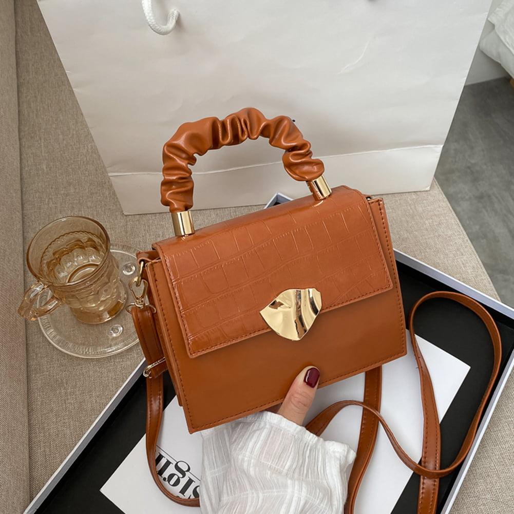 Details about  /Fashion Animal Pattern PU Women Handbag Pleated Handle Chain Shoulder Bags