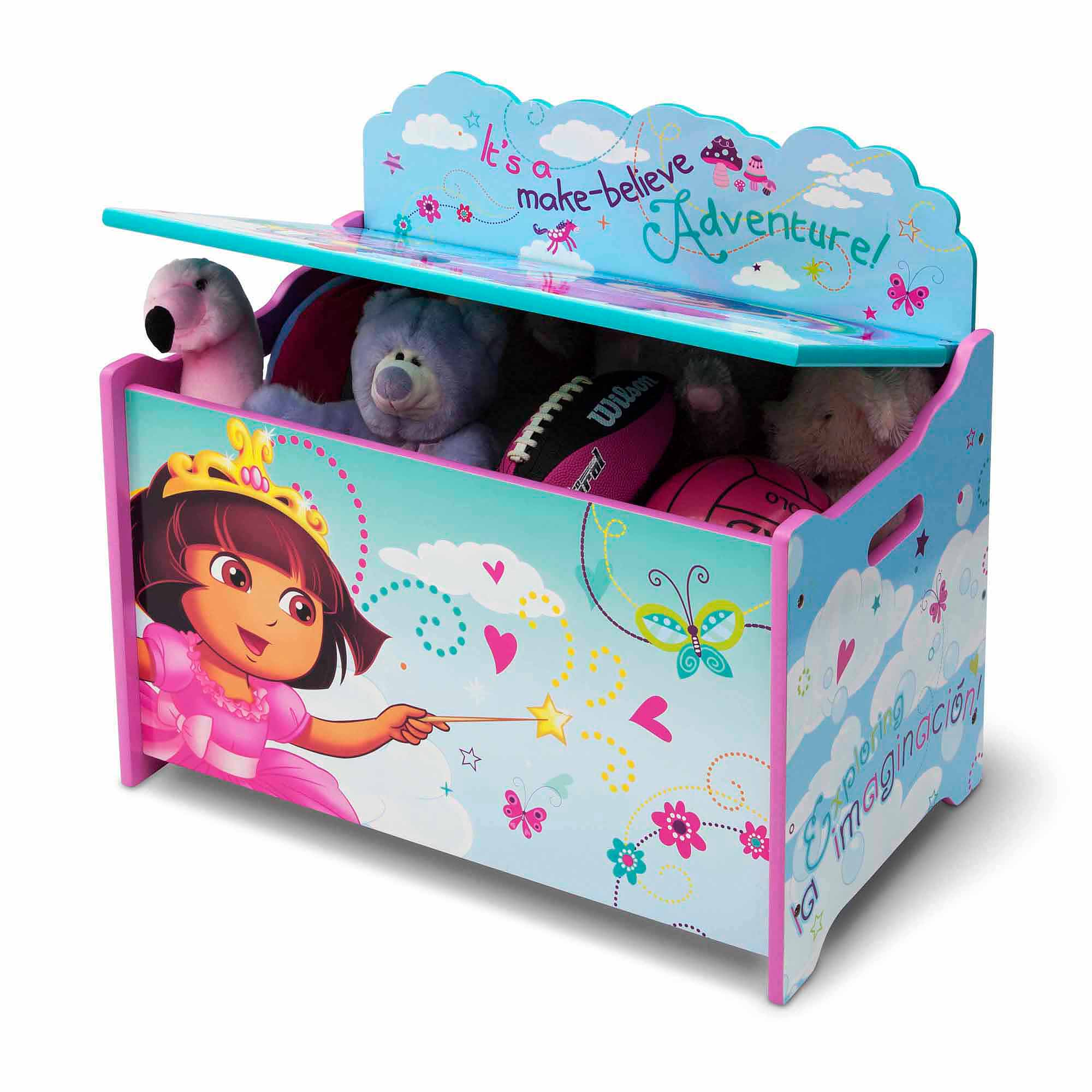 Nick Jr Dora The Explorer Deluxe Wood Toy Box By Delta Children