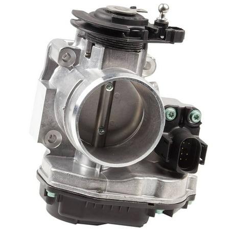 Turbo Throttle Body (Bapmic 058133063Q Throttle Body Assembly for Volkswagen Passat Audi A4 1.8L)