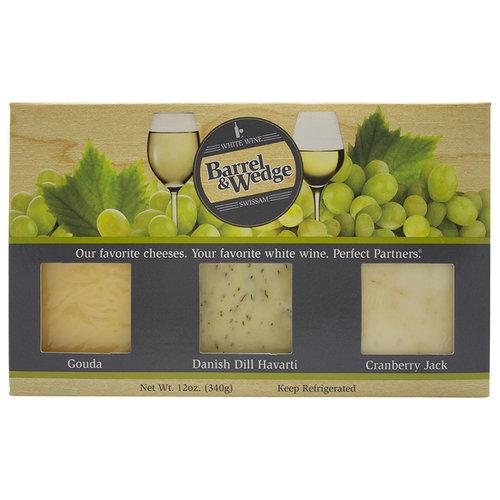 Barrel & Wedge White Wine Gouda Danish Dill Havarti Cranberry Jack Cheese Variety Pack, 3... by Swiss American, Inc.