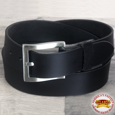 Leather Jean Casual Belt - 40 IN HILASON CASUAL JEANS DRESS BELT VINTAGE WESTERN GENUINE LEATHER BLACK MENS