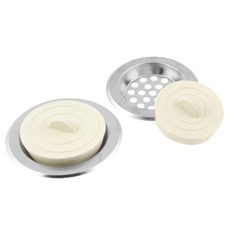 - Unique Bargains Unique Bargains 4pcs Kitchen Sink Strainer Drain Garbage Water Disposal Stopper Off White
