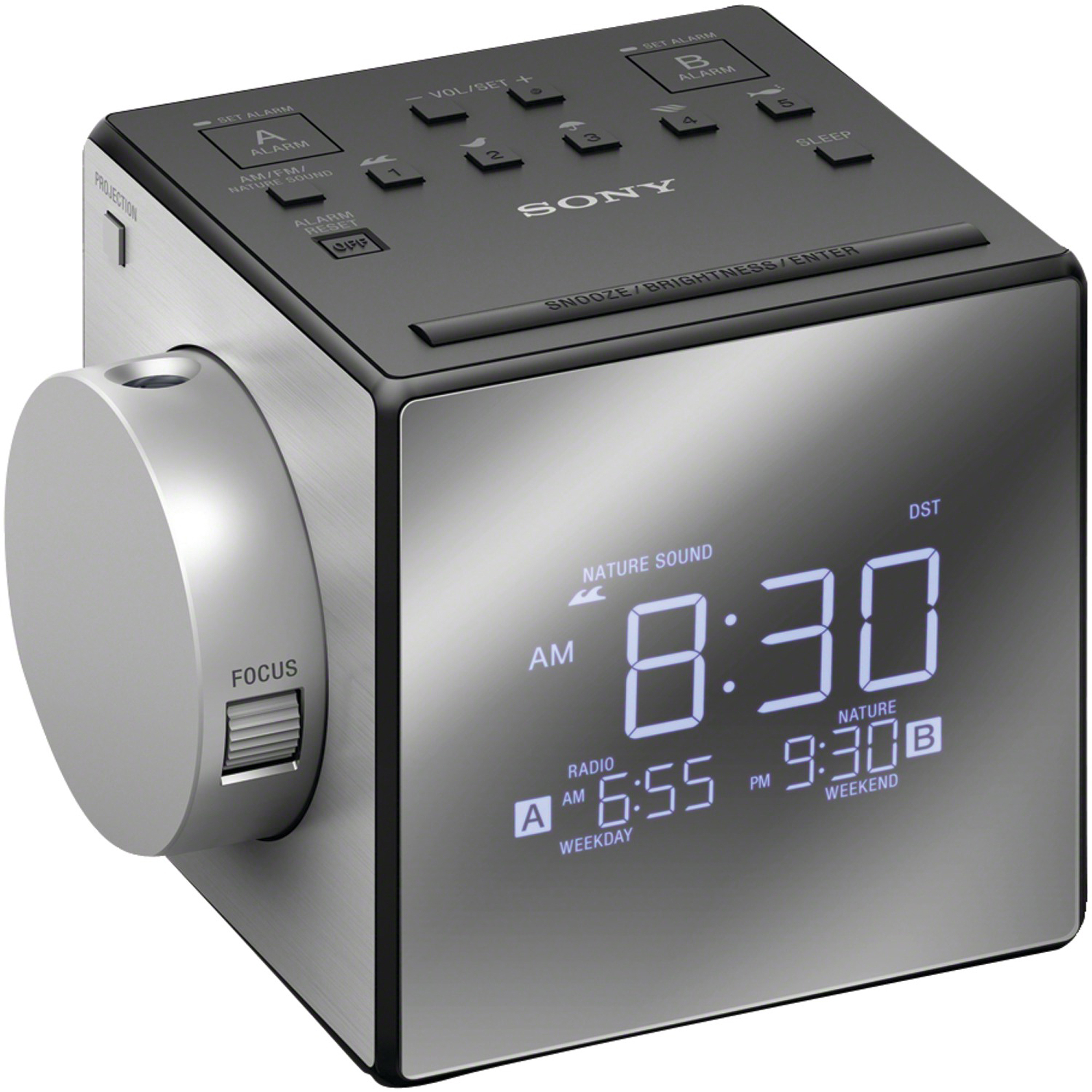 Sony ICFI1PJ Nature Sound and Projection Clock Radio