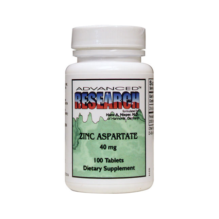 Advanced Research/Nutrient Carriers Zinc Aspartate 40 mg 100 Tabs