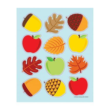 APPLES ACORNS & LEAVES SHAPE STICKERS](Autumn Leaf Stickers)