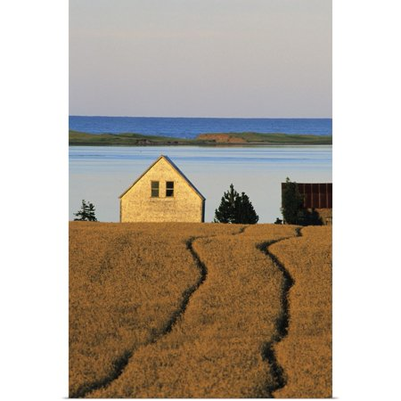 Great BIG Canvas | Rolled Ron Watts Poster Print entitled Farmland, Queens County, Prince Edward Island,