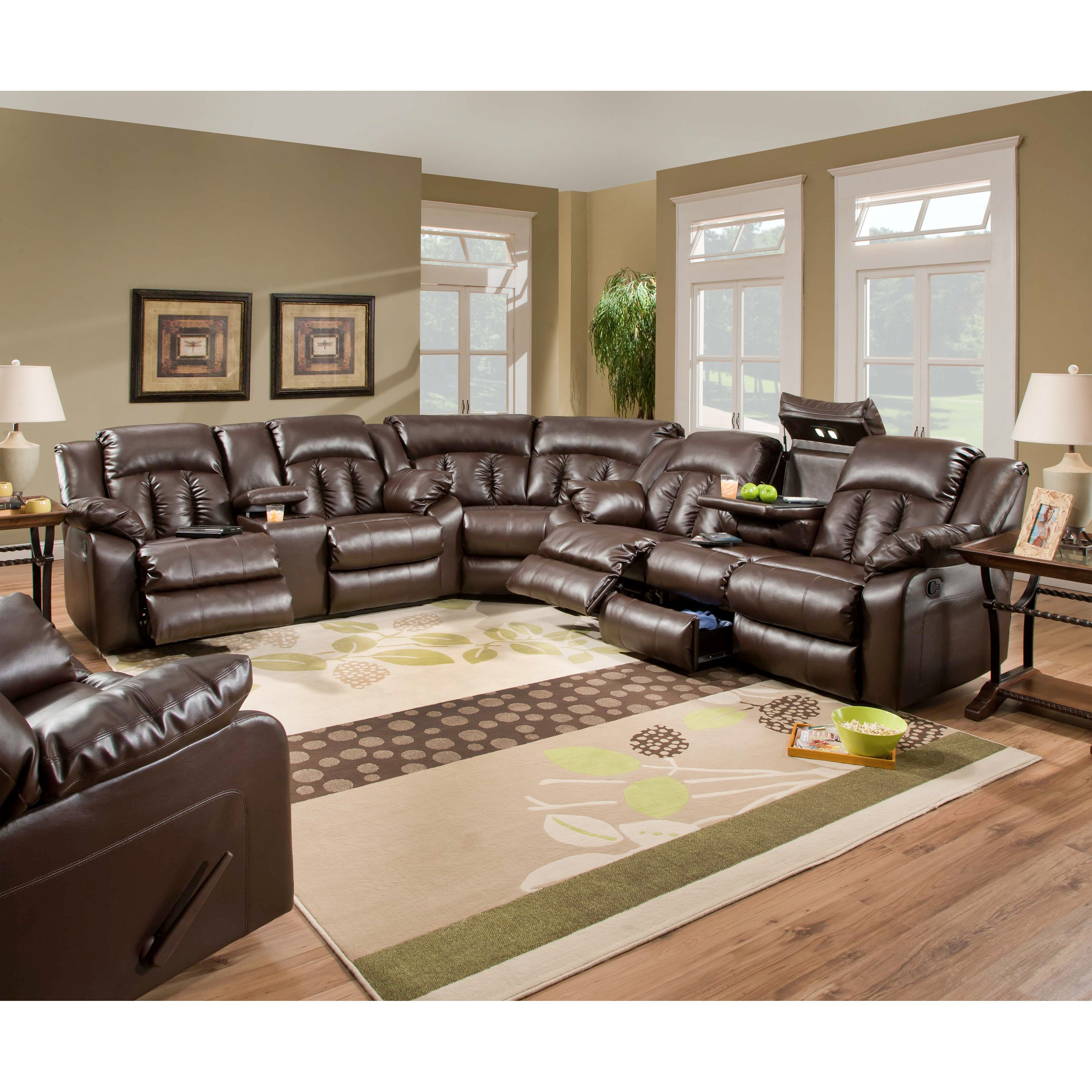 Fantastic Simmons Upholstery Sebring Bonded Leather Sectional Frankydiablos Diy Chair Ideas Frankydiabloscom