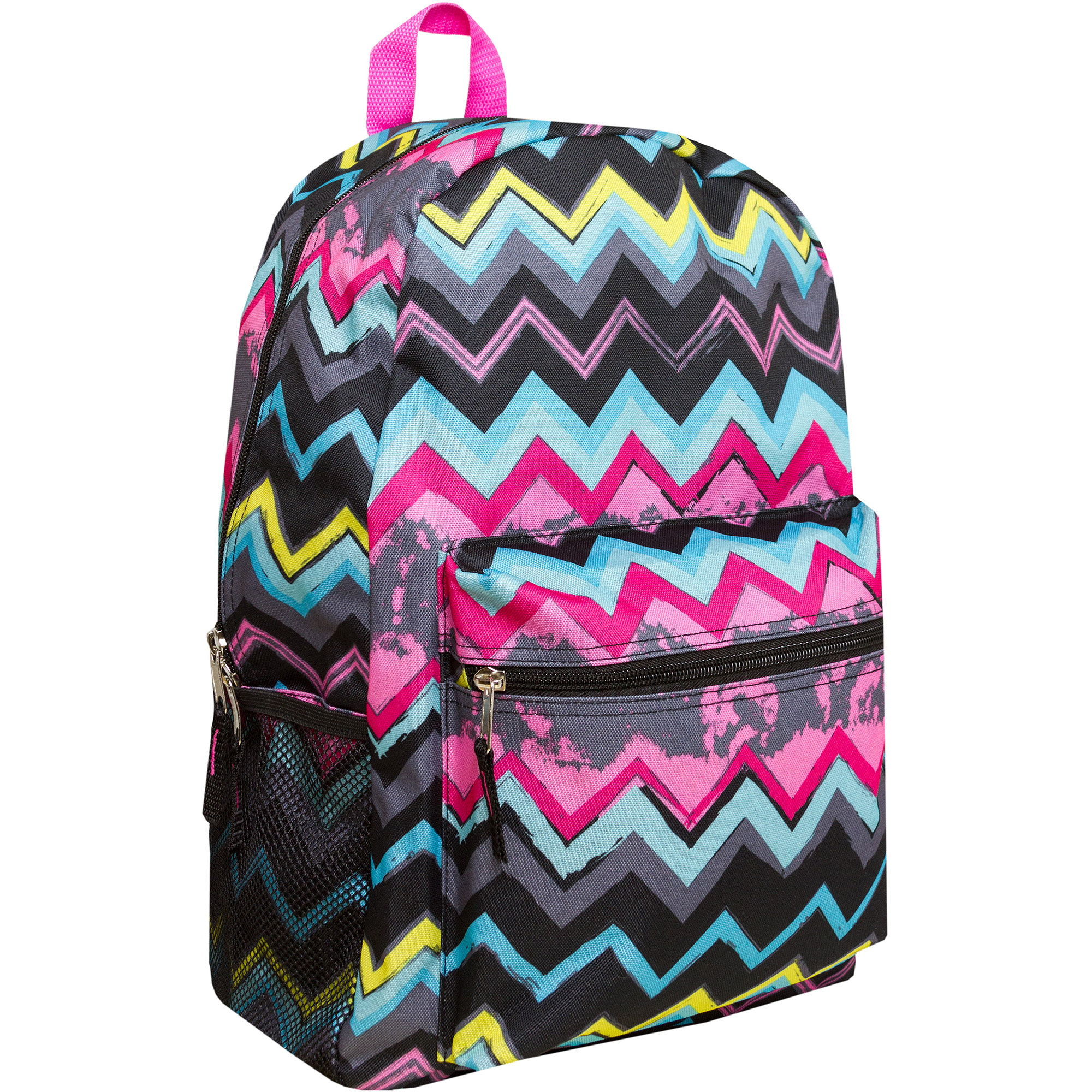 "Chevron Print 17"" Backpack"