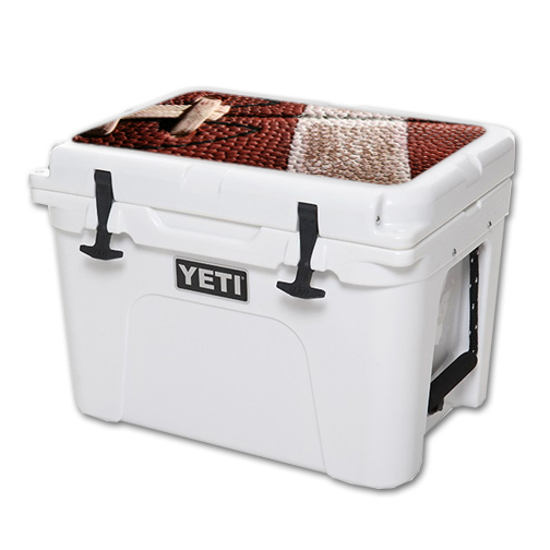 MightySkins Protective Vinyl Skin Decal for YETI Tundra 35 qt Cooler Lid wrap cover sticker skins Football