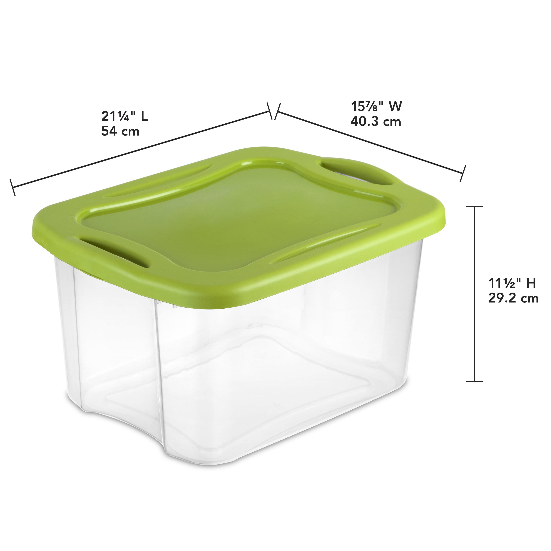 Sterilite 40 Qt38 L EZ Carry Clear Spicy Lime Walmartcom
