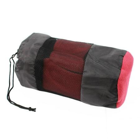 ASR Outdoor Fleece Sleeping Bag Cold Weather Liner Camping Hiking - Burgundy Bio Bag Liner