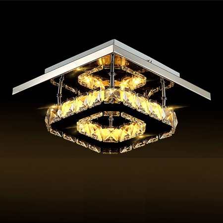 Meigar LED Modern Art Decor Crystal Chandelier Lighting Pendant Flushmount Ceiling Light Fixtures Light Lamp for Living Dining Study Room Bedroom Foyer (Ceiling Decor)