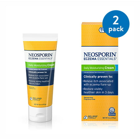 (2 Pack) Neosporin Eczema Essentials Daily Moisturizing Cream, 6