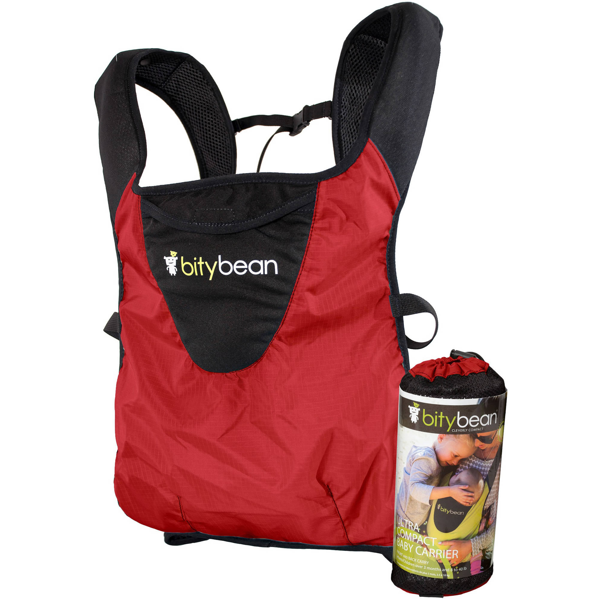 BityBean UltraCompact Baby Carrier, Tomato Red by BityBean