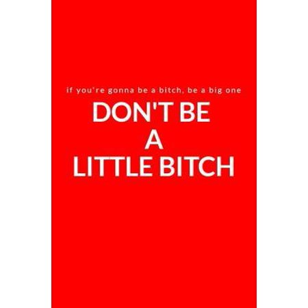If You're Gonna Be a Bitch, Be a Big One : Don't Be a Little Bitch: A Lined Writing Red Journal for Personal Inspiration and