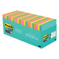 "Post-it Super Sticky Notes, 3"" x 3"", Miami Collection, 24 Pads"