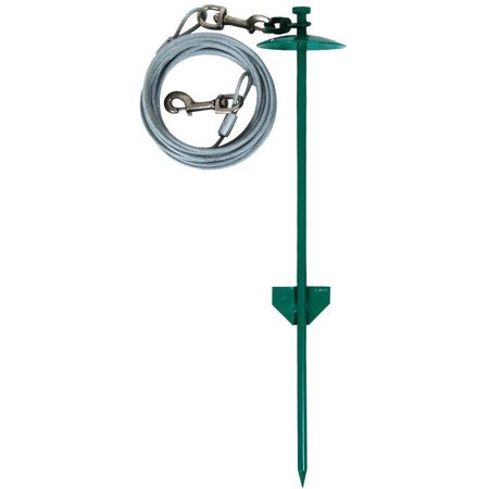 "Image of ""Aspen Pet Stake Large 20"""" Dome with 20 Feet Tieout"""