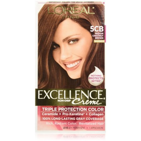 L Oreal Paris Excellence Creme Haircolor Medium Chestnut Brown 5cb Warmer