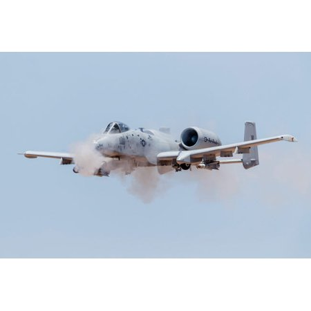 A Us Air Force A 10 Thunderbolt Ii Fires Its 30Mm Gun At A Strafe Target Poster Print By Rob Edgcumbestocktrek Images