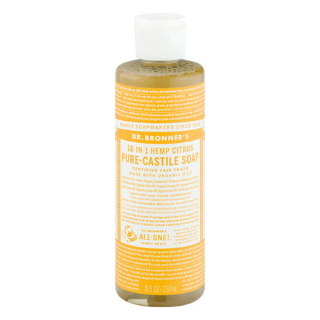 Dr  Bronner's 18-In-1 Hemp Pure-Castile Soap Citrus, 8 0 FL