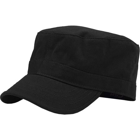 Cheap Military Hats (Cadet Army Military Fitted Botton Cap Basic Everyday Castro Radar)