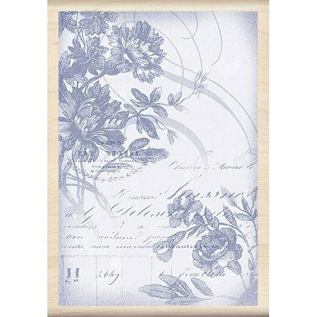 Inkadinkado Mounted Rubber Stamp, Floral Wood Cut 5