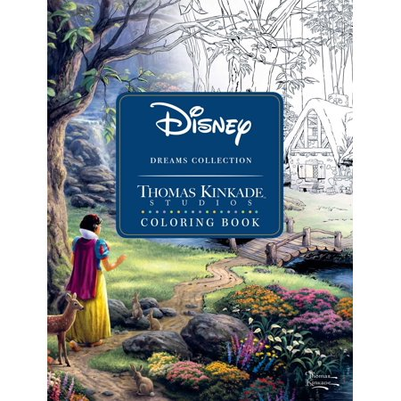 Disney Dreams Collection Thomas Kinkade Studios Coloring Book (Paperback) - Halloween Hard Coloring Pages