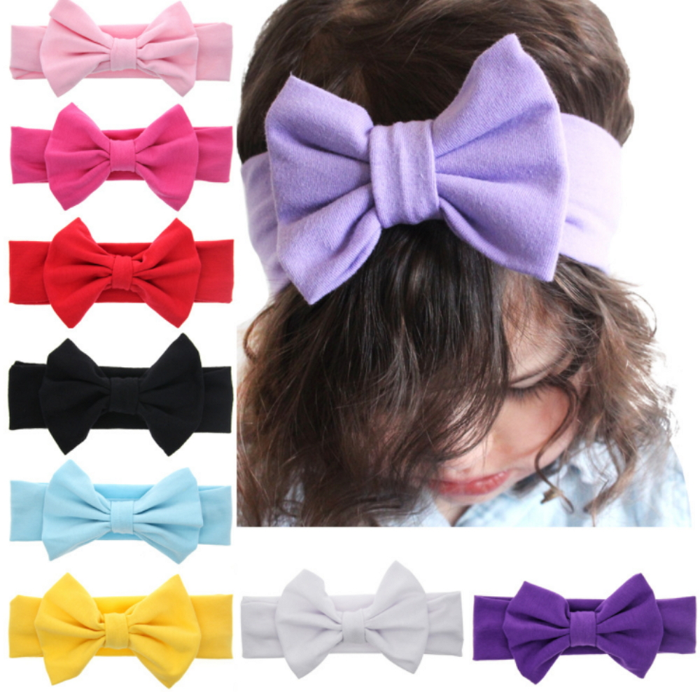9Pcs Kids Girl Baby Toddler Infant Flower Headband Hair Band Accessories Headwear