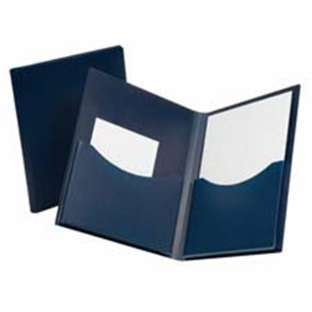 Esselte Blue Canvas Book (Esselte Pendaflex Corporation ESS57455 Twin Pocket Folder- w- 6in. Pockets- Holds 200 Sheets- Ltr- Navy )