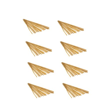 Hydrofarm 6 Feet Natural Strong Bamboo Stakes Garden Set Pack Of 25 8 Pack