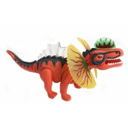 Kids Toy Walking Dinosaur Dilophosaurus Toy Figure With Lights & Sounds, Real Movement