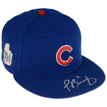 Javier Baez Chicago Cubs 2016 Mlb World Series Champions Autographed New Era World Series Hat