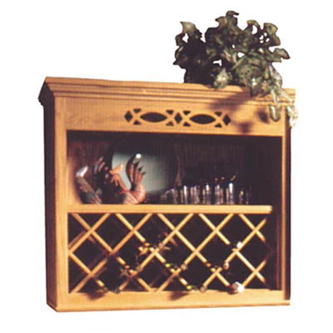 HD NPWRL 2430 O Wood Wine Rack Lattice Oak, 24 x 30 in. by HD