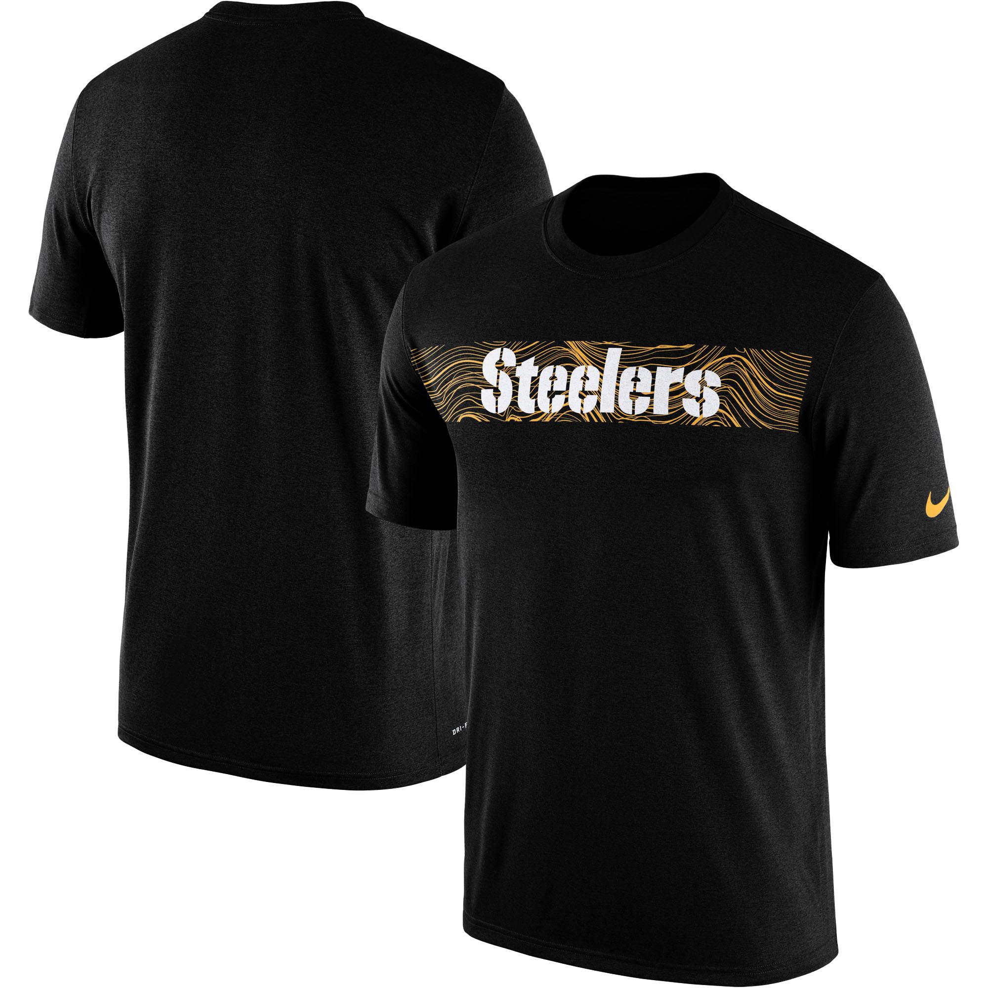 Pittsburgh Steelers Nike Sideline Seismic Legend Performance T-Shirt - Black