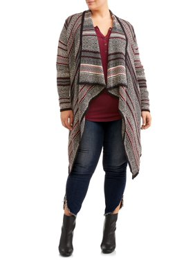 4d3c7afd52 Women s Plus-Size Cardigans and Sweaters - Walmart.com - Walmart.com