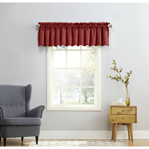 Sun Zero Kylee Rod Pocket Room Darkening Window Valance