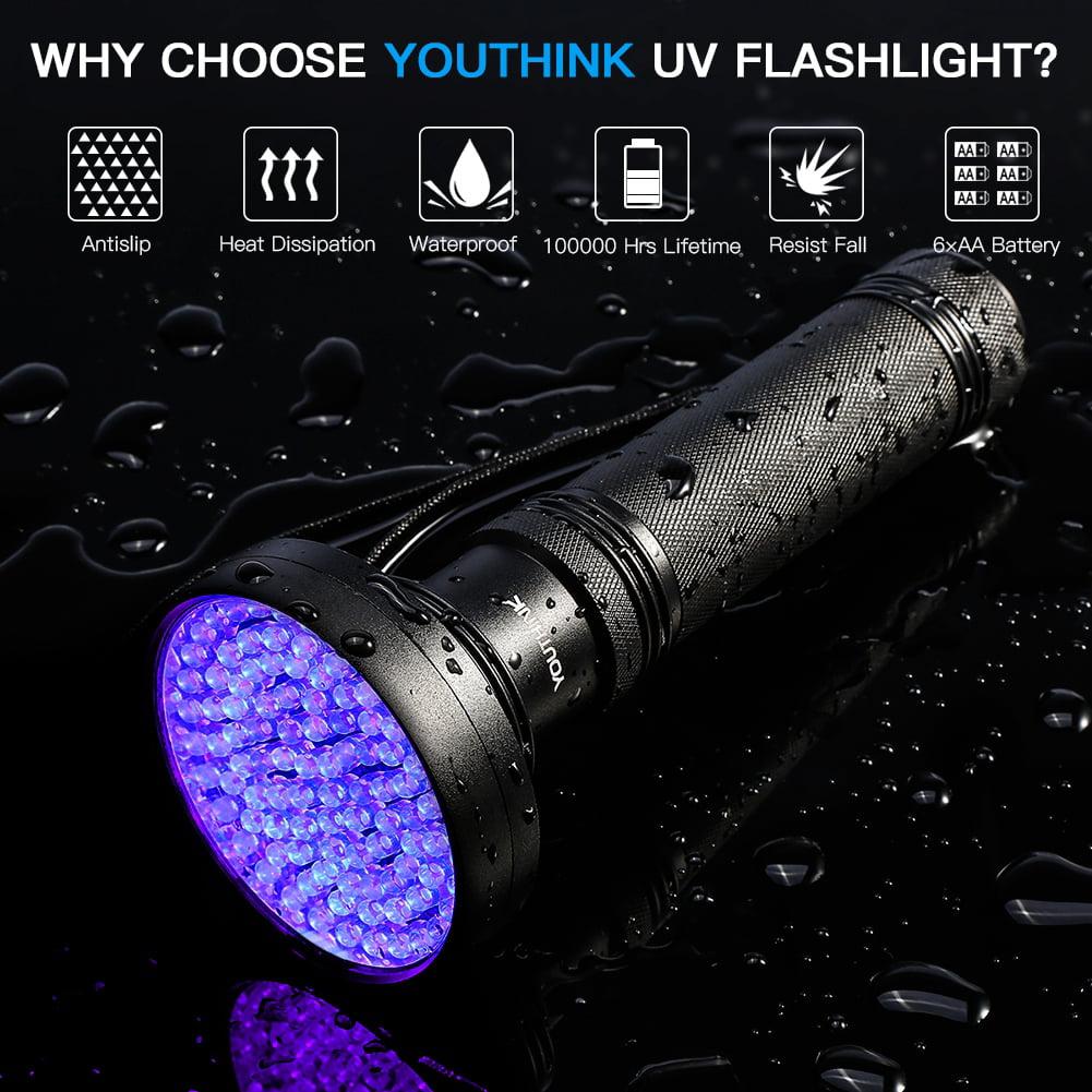Lv. life UV 100 LED Blacklight Scorpion 395-400nm Violet Flashlight Detection Torch Light
