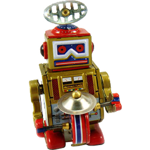 Alexander Taron Collectible Decorative Tin Toy Robot