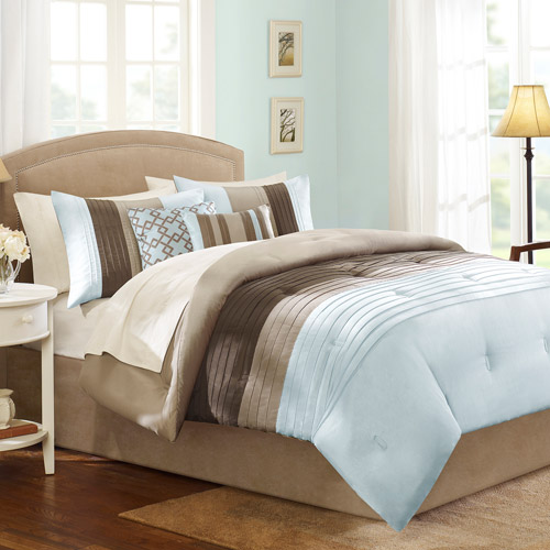 Better Homes And Gardens Pleated 5 Piece Bedding Comforter Set
