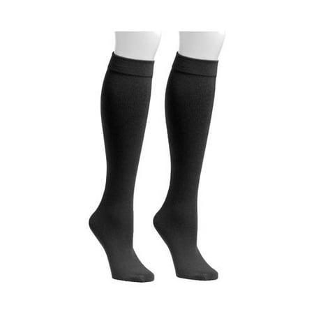 4d534df0f63 Muk Luks - Women s Fleece Lined 2-Pair Pack Knee High Socks - Walmart.com