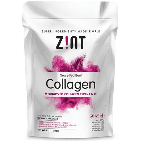 b3e0ce08300 Zint Paleo-Friendly Beauty Elements Collagen Peptides Powder, 10.0 Oz  Refill Pouch - Walmart.com