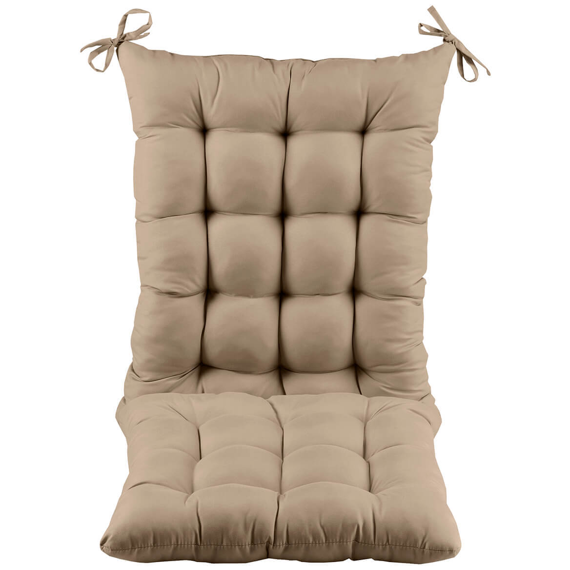OakRidge Rocking Chair Cushion, Beige, 2-piece Set
