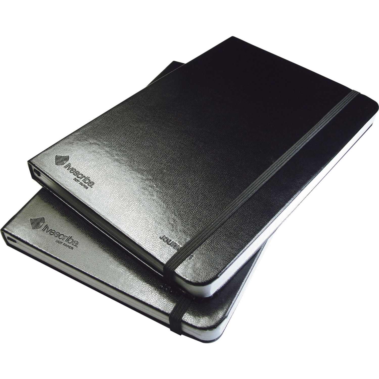 """Livescribe Black Lined Journal - 100 Sheet - Ruled - 5.5"""" x 8.25"""" - 2 / Pack"""