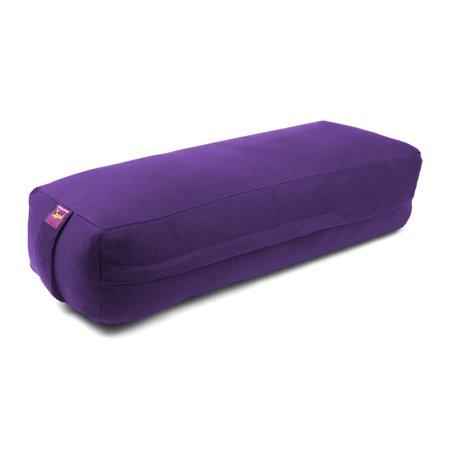 NEW RESTORATIVE Cotton Filled LONG and NARROW Rectangular Yoga Bolster - Purple - image 1 de 1