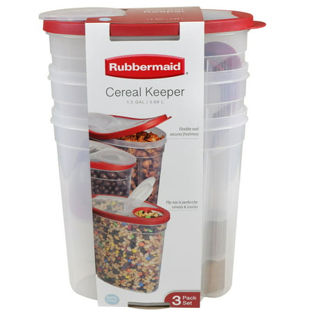 Rubbermaid Cereal Keepers (3 pk.) - Red](Big Jar)