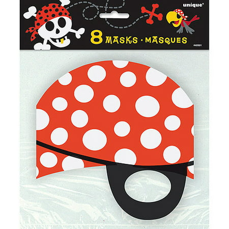 Pirate Party Masks, 8ct - Mask Party