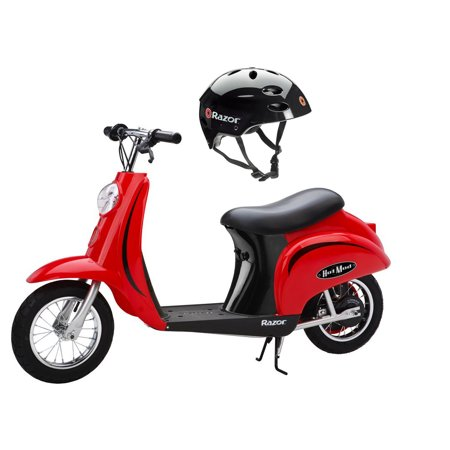 Razor Pocket Mod 24V Electric Scooter (Red) & Youth Sport Helmet