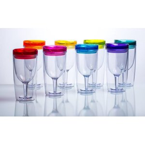 Cupture Insulated Wine Tumbler Cup With Drink-Through Lid - 10 oz, 8 Pack