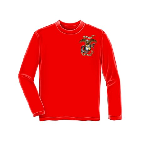 Red Cap Cards (United States Marine Corps USMC Semper Fidelis Red Adult Long Sleeve)