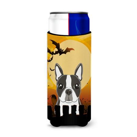 Halloween Boston Terrier Ultra Beverage Insulators for slim cans BB1761MUK - Halloween Events In Boston